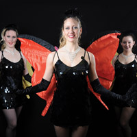 Butterflies                  Animated wings that flutter bring these costumes to life! Can be used as living decor or part of a dance show!