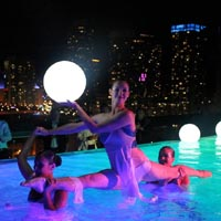 Water Performers  Create a spectacle in any pool with our stunning water dancers! They will dance and pose in the water to create a magical scene!
